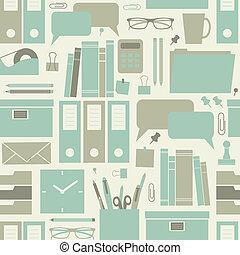 escritório, padrão, seamless