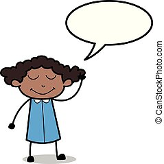 escritório, pensando, -, ilustração, pensamento, vetorial, ...