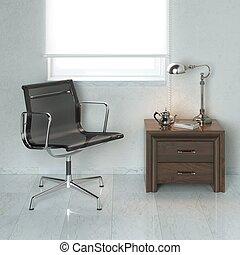 escritório, poltrona,  wh, pretas, luxo