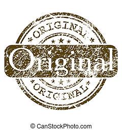 escritório, selo, -, eps, borracha, original., 8