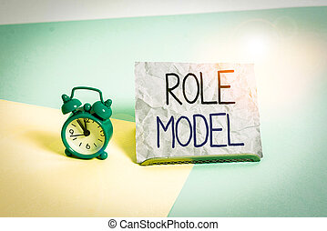 escrita, backdrop., model., ser, pastel, folha, inclinado, relógio, demonstrar, letra, imitado, mini, outros, tamanho, exemplo, texto, ao lado, papel, significado, alarme, colocado, conceito, papel, olhado
