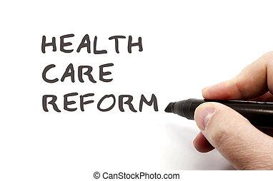 escrita, cuidado saúde, reform