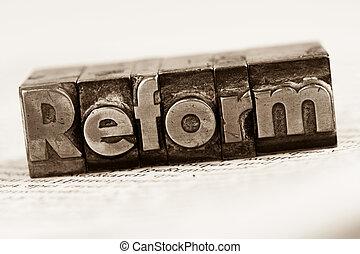 escrito, cartas, plomo, reform