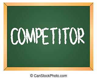 escrito, competidor, chalkboard