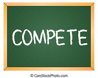 escrito, competir, chalkboard