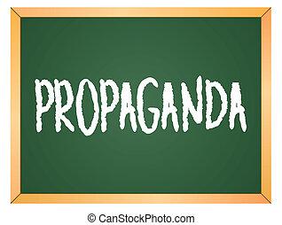 escrito, propaganda, chalkboard