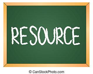escrito, recurso, chalkboard