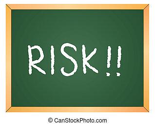 escrito, risco, chalkboard