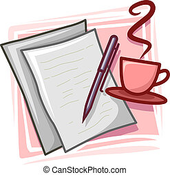 escritor, icono