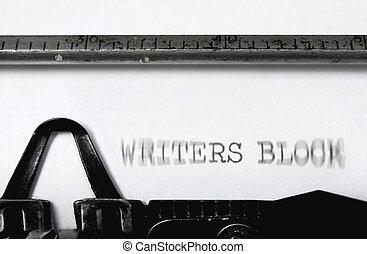 escritores bloqueiam