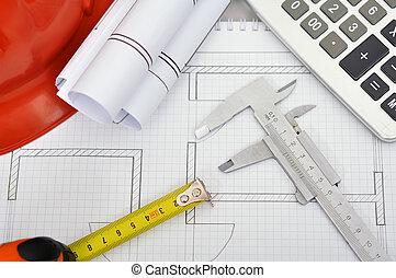 escritorio, ingeniero
