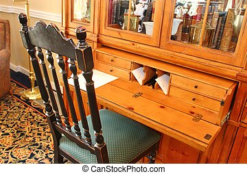 escritorio, y, silla