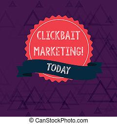 escritura, clickbait, actuación, generar, protegidode la luz, página, pegatina, vistas, dentado, nota, sello, borde, foto, strip., puntería, showcasing, empresa / negocio, en línea, marketing., cinta, contenido, color
