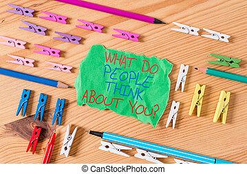 escritura, clothespin, empresa / negocio, sobre, showcasing...