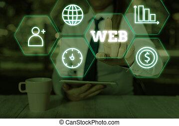 escritura, concepto, internet, servidores, texto, documents...