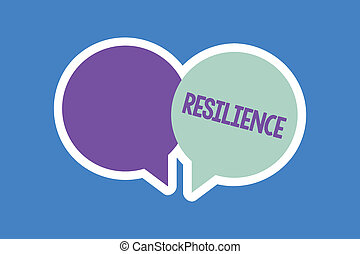 escritura, dificultades, empresa / negocio, recobrar, concepto, texto, resilience., palabra, rápidamente, capacidad, persistencia