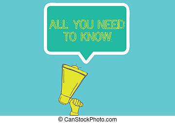 escritura, empresa / negocio, importante, know., necesidad, texto, todos, hechos, decir, solamente usted, palabra, acceso, concepto, unos, datos