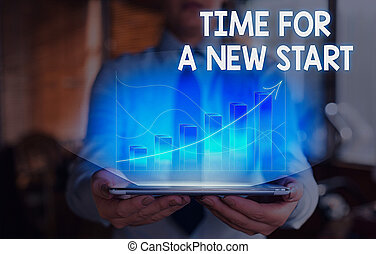 escritura, empresa / negocio, nuevo, conceptual, texto, fresco, comenzar, mano, start., ahora, actuación, foto, job., supposed, tiempo, algo, derecho