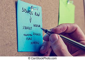 escritura empresario, un, plan trabajo empresa