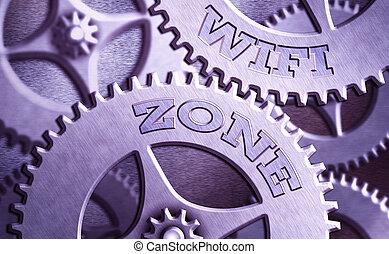 escritura, internet, highspeed, showcasing, wifi, nota, zone., proporcionar, empresa / negocio, red, actuación, connections., foto, radio