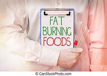 escritura, metabolism, actuación, reducir, nota, foods., ...