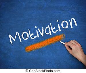 escritura, motivación, mano