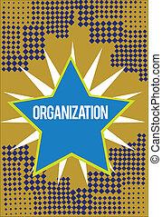 escritura, nota, actuación, organization., empresa / negocio, foto, showcasing, grupo organizado, de, actuación, con, un, particular, propósito, empresa / negocio