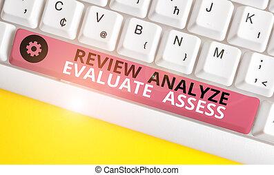 escritura, papel, pc, empresa / negocio, proceso, fondo., blanco, analizar, reacción, evaluación, revisión, sobre, teclado, evaluar, texto, conceptual, assess., perforanalysisce, mano, actuación, foto, nota