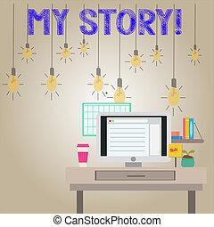 escritura, person., texto, tener, acontecimientos de vida, ...