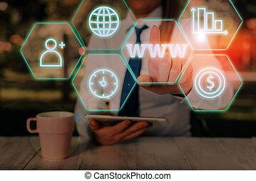 escritura, red, concepto, html, www., texto, accessed, ...