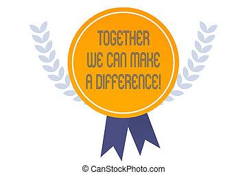 escritura, ser, como, manera, juntos, actuación, equipo, haga la importancia, lata, muy, foto, difference., showcasing, empresa / negocio, nosotros, group., importante, algunos, o