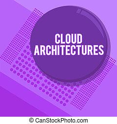 escritura, texto, escritura, nube, architectures., concepto,...