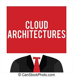 escritura, texto, nube, architectures., concepto, significado, vario, dirigido, bases de datos, softwares, aplicaciones