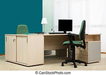 escrivaninha, em, um, modernos, escritório