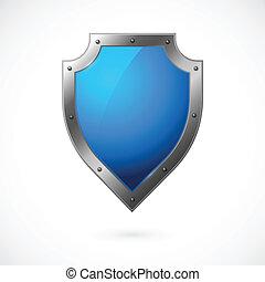 escudo, ícone, isolado