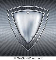 escudo, aço, abstratos
