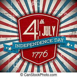 escudo, cartaz, /, vetorial, dia, independência