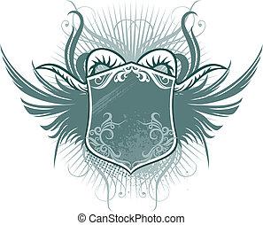 escudo, chifre