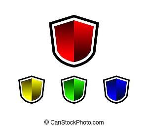 escudo, em branco
