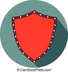 escudo, forma, apartamento, desenho