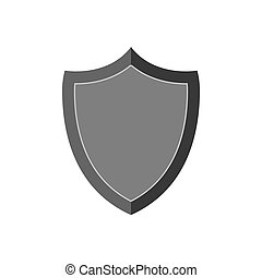 escudo, icon., símbolo, em, trendy, apartamento, estilo, isolado, branco, experiência.