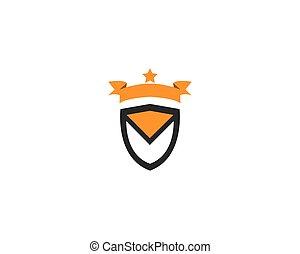 escudo, ilustração, vetorial, desenho, logotipo, ícone