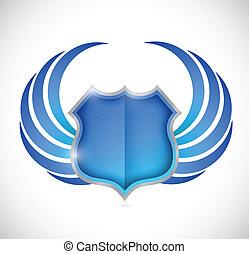 escudo, proteção, ilustração