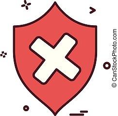 escudo, proteção, vetorial, desenho, segurança, ícone