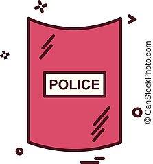 escudo, proteção, vetorial, desenho, segurança, segurança, ícone
