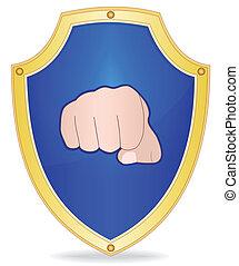 escudo, punho