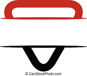 escudo, triangulo, emblema, logotipo, em branco, modelo