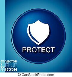 escudo, um, símbolo, de, protection., escudo