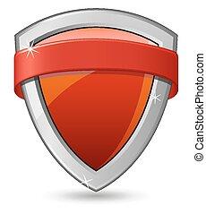 escudo, vermelho