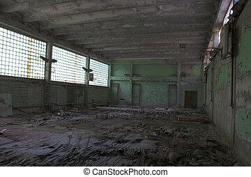 escuela, abandonado